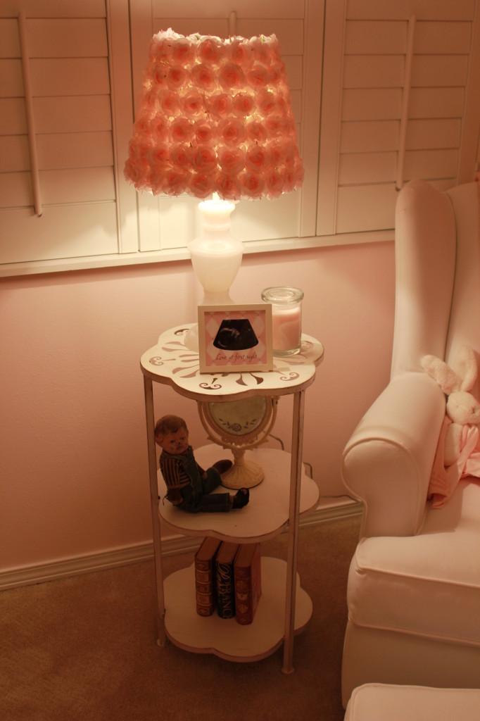 Vintage Glam Girl Nursery Side Table