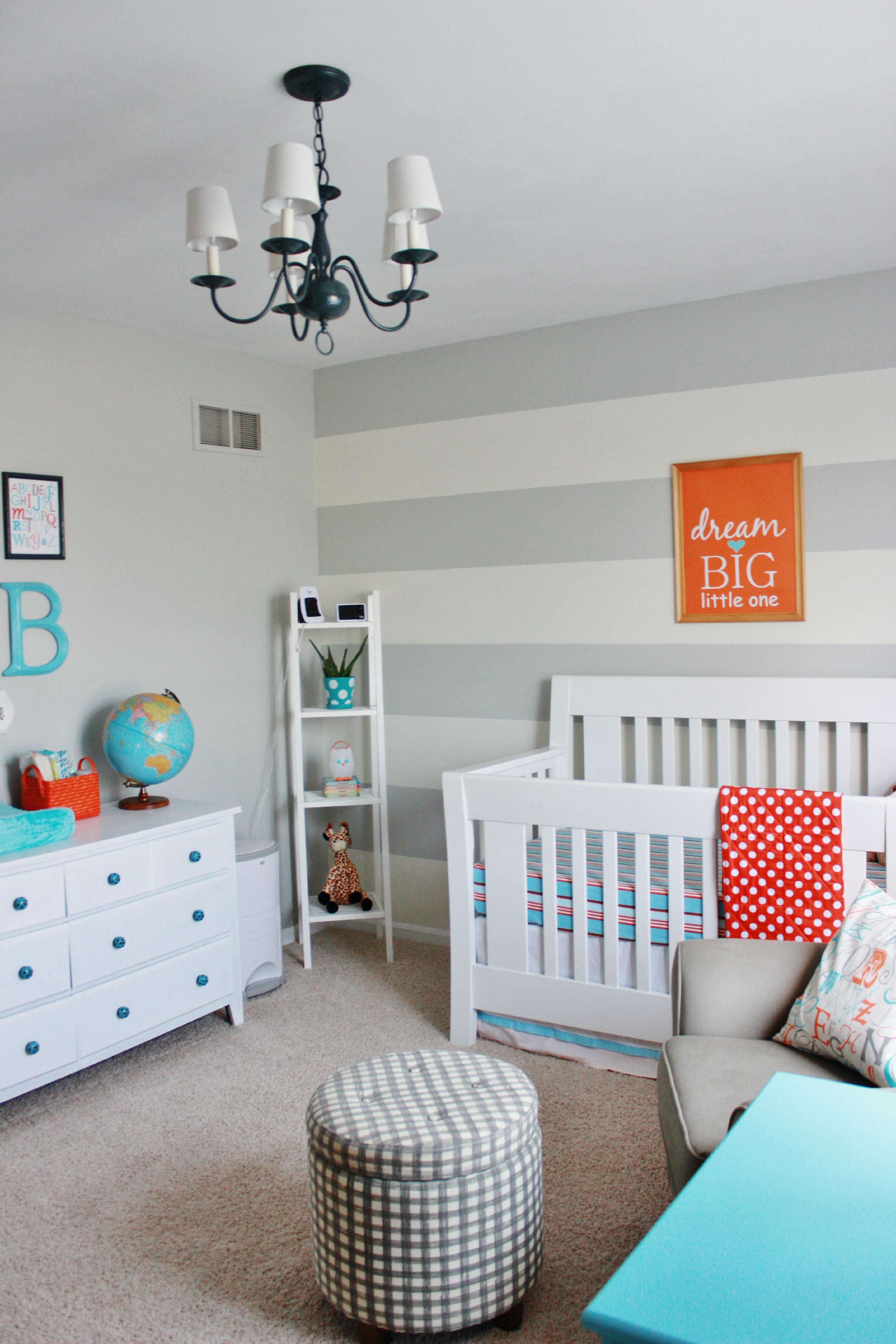 Aqua Orange And Grey Nursery Project