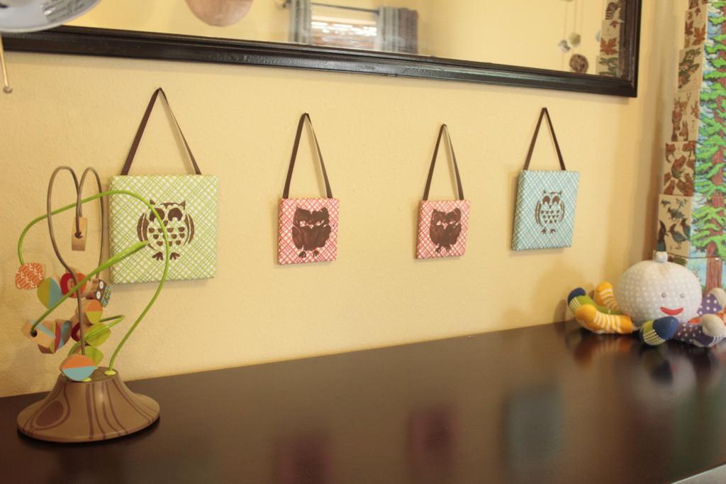 Boy Owl Nursery Hooks