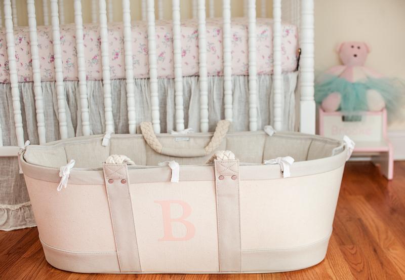 Vintage Baby Girl Nursery Moses Basket