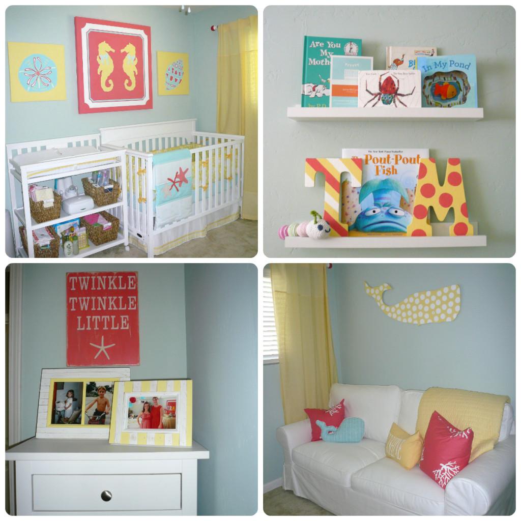Girl Nautical Nursery Collage