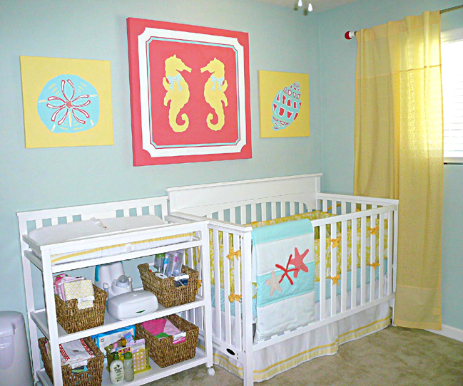 Girl Nautical Nursery Main Wall