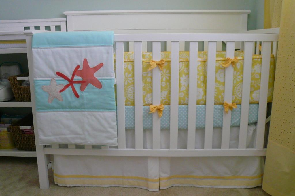 Girl Nautical Nursery Crib Detail