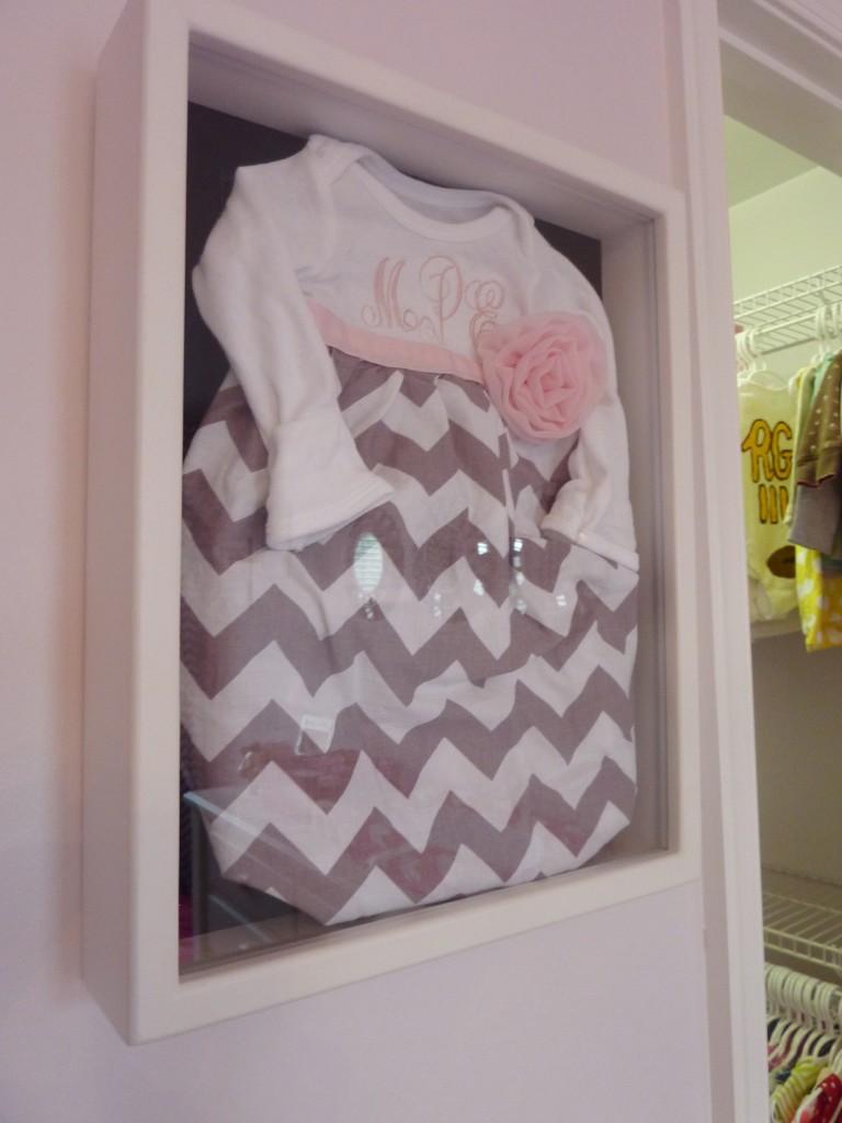 Hot Pink and Gray Elegant Girl Nursery Chevron Dress
