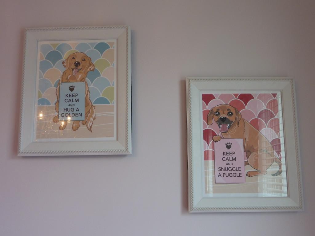 Hot Pink and Gray Elegant Girl Nursery Wall Art