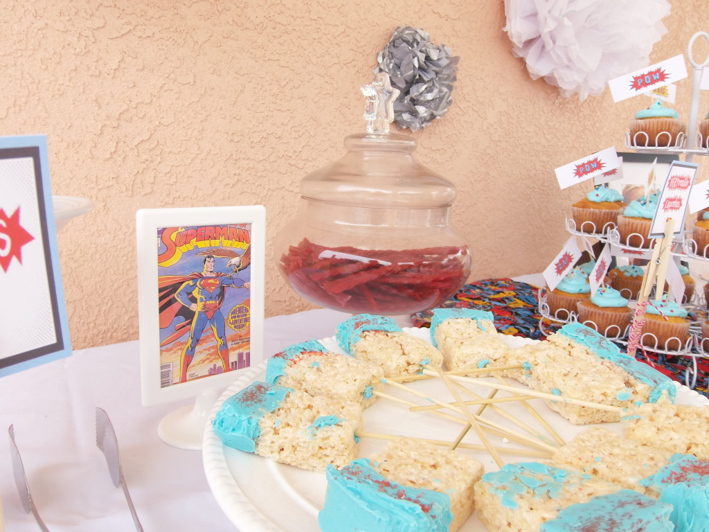 Girl Superman Hero Party Rice Krispie Treats