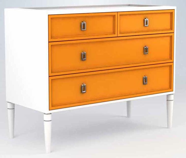 Shaker Style Furniture orange dresser