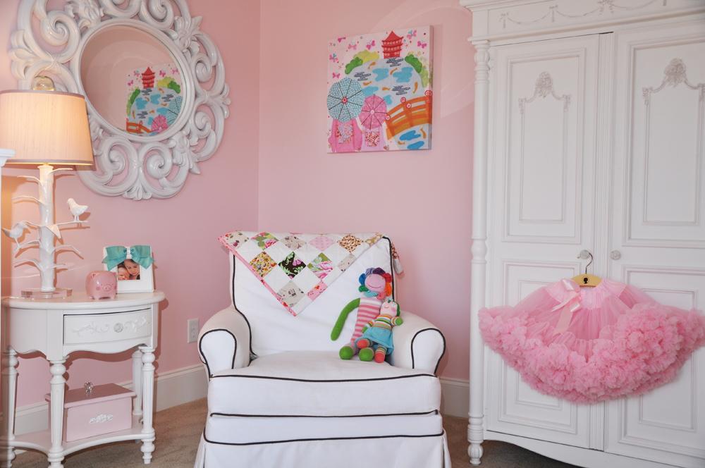 Shared Shabby Chic Nursery Corner of Room