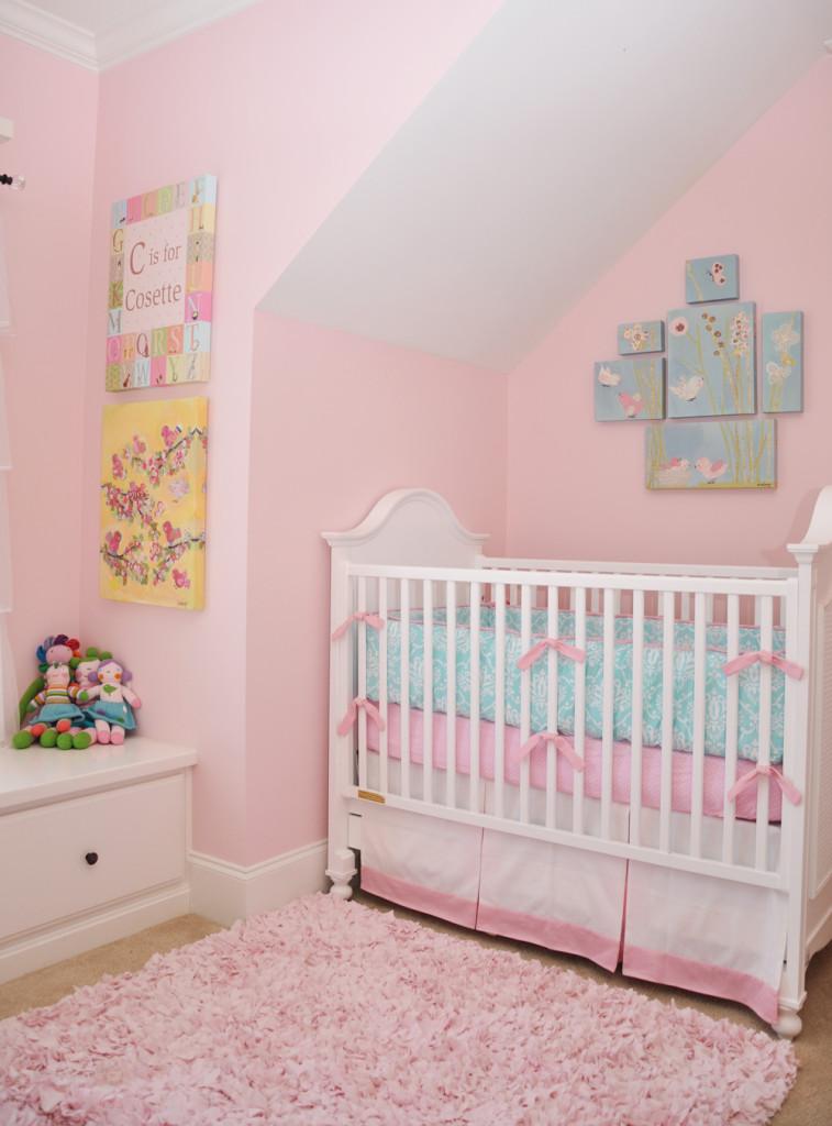 Shared Shabby Chic Nursery Pretty Pink Walls