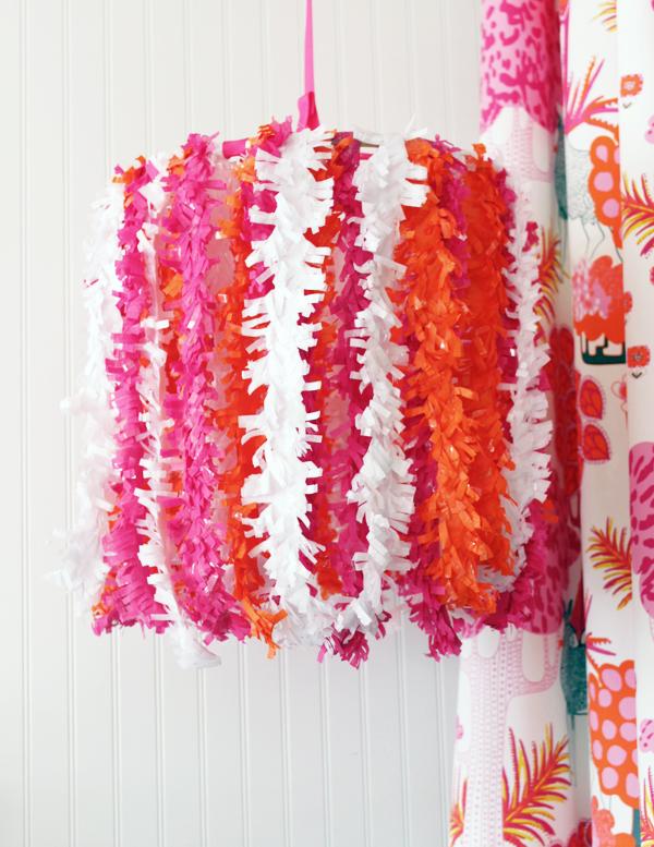 Tissue Fringe Chandelier