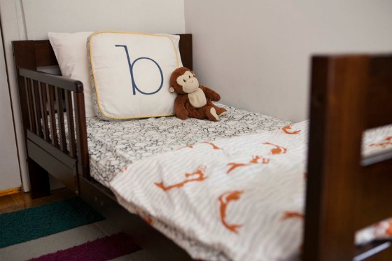 Toddler Bed with Argington Fish & Pebbles Bedding