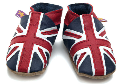 Union Jack Soft Soled Baby Shoes