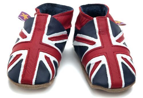 Union Jack Soft Soled Baby Shoes