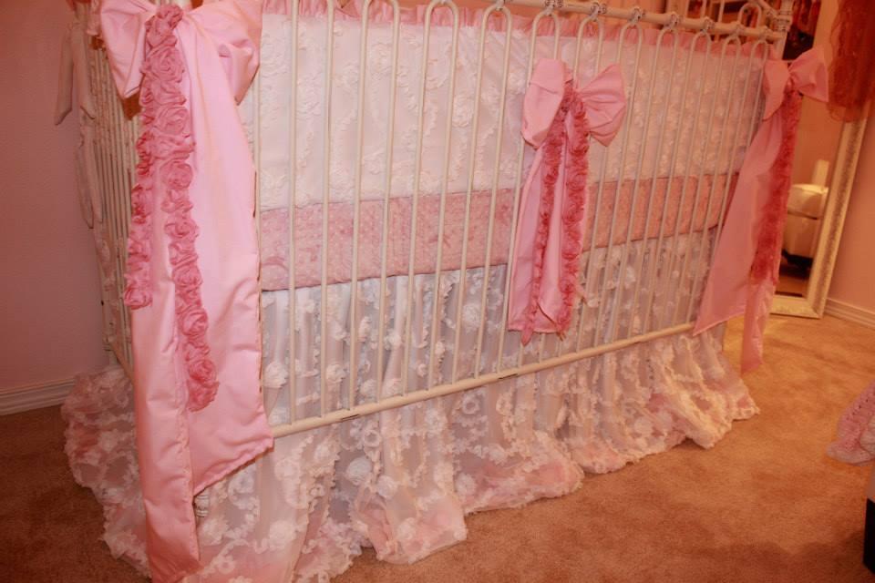 Vintage Glam Girl Nursery Bedding Detail