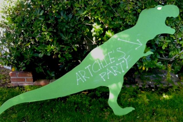 Dinosaur 1st Birthday Party Big Dino
