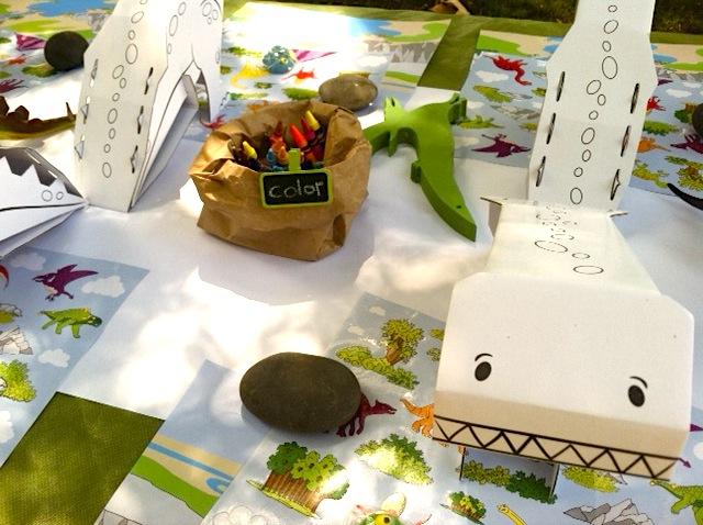Dinosaur 1st Birthday Party Crafts