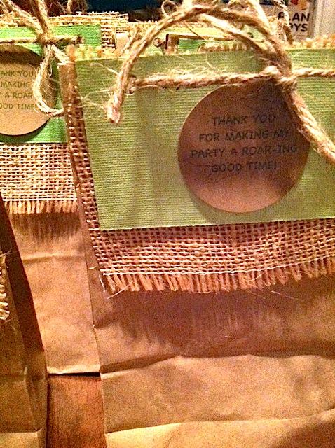 Dinosaur 1st Birthday Party Dino Goody Bag
