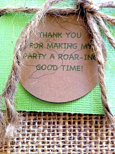Dinosaur 1st Birthday Party Goody Bags