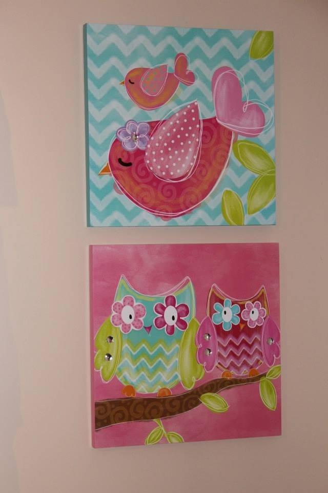 Colorful Girl Nursery Wall Art