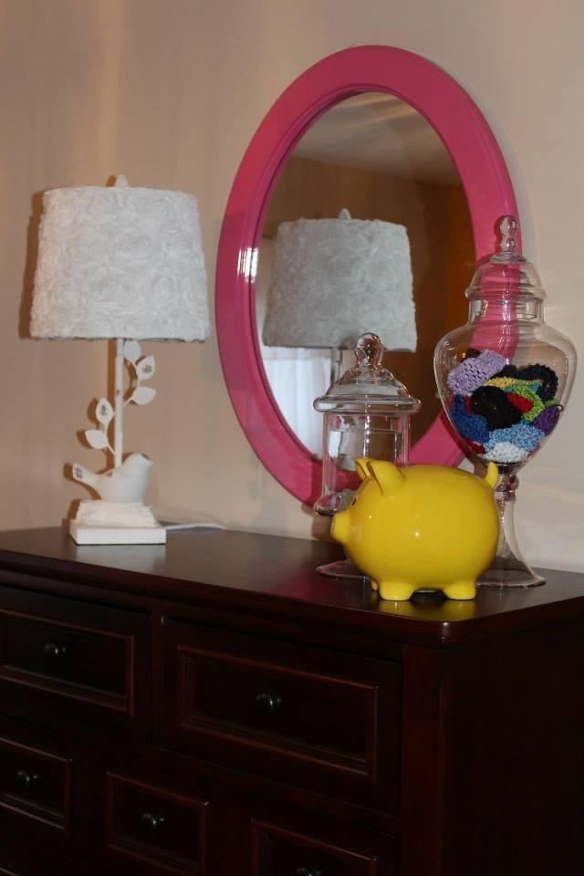 Colorful Girl Nursery Mirror View