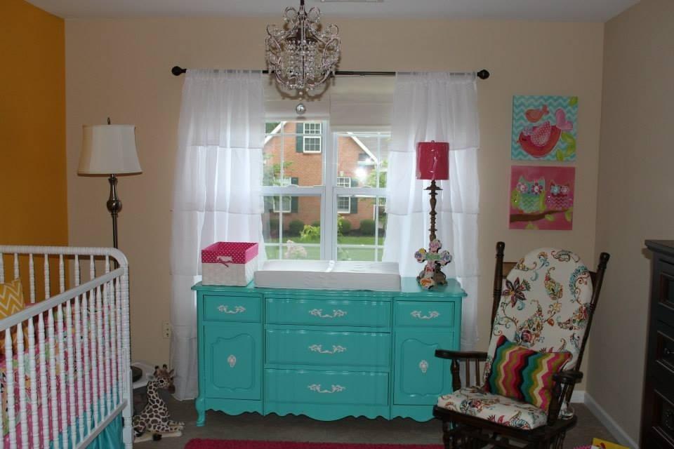 Colorful Girl Nursery Pretty Dresser