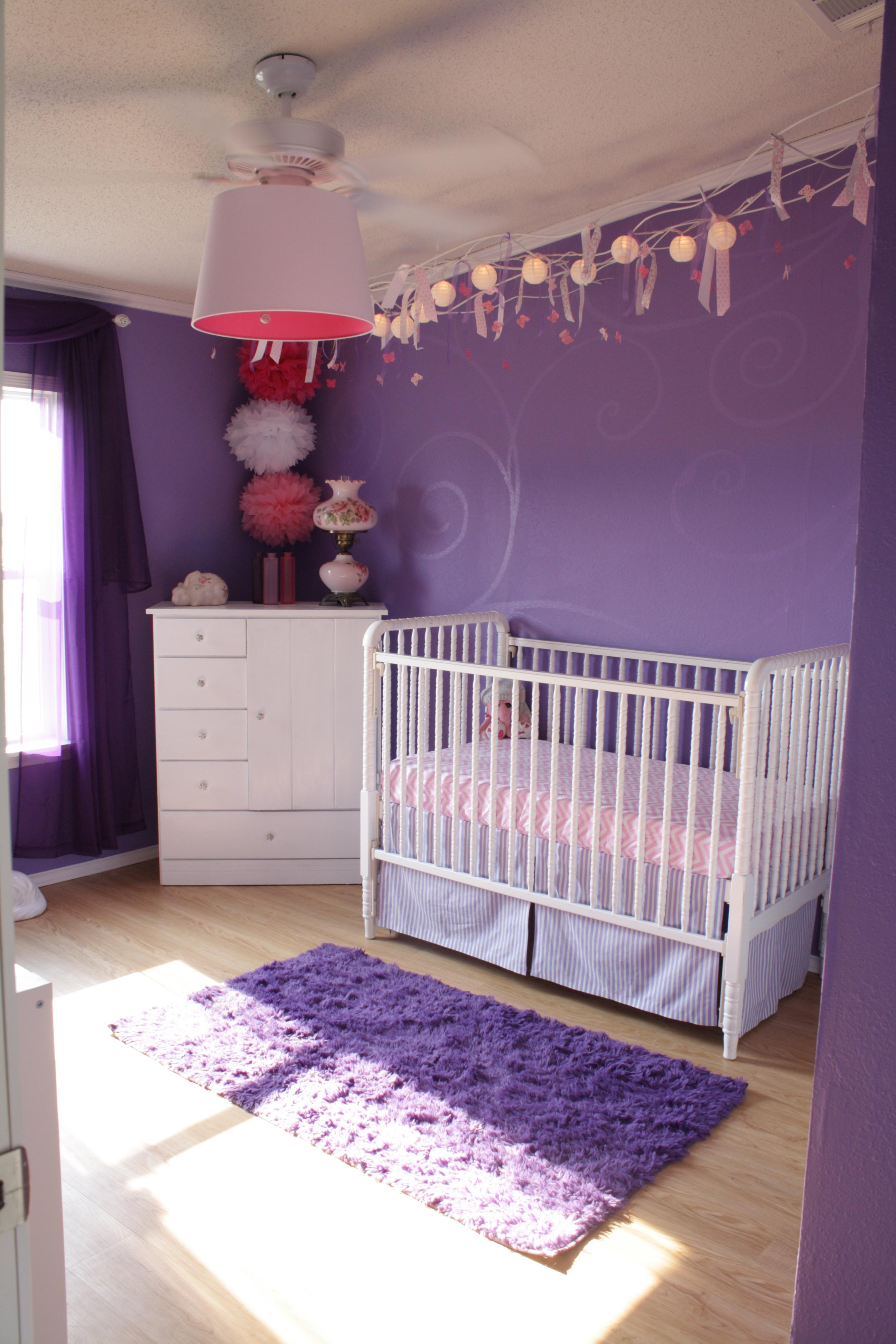 Purple Girl Nursery Room View