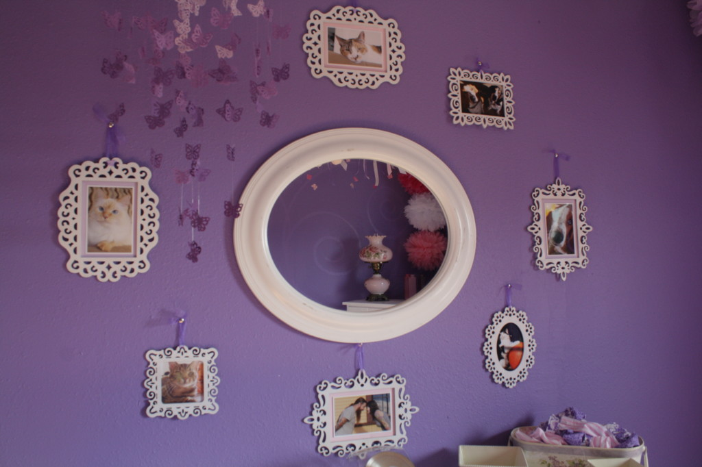 Purple Girl Nursery Mirror