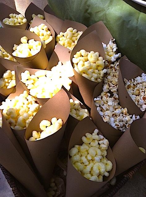 Dinosaur 1st Birthday Party popcorn