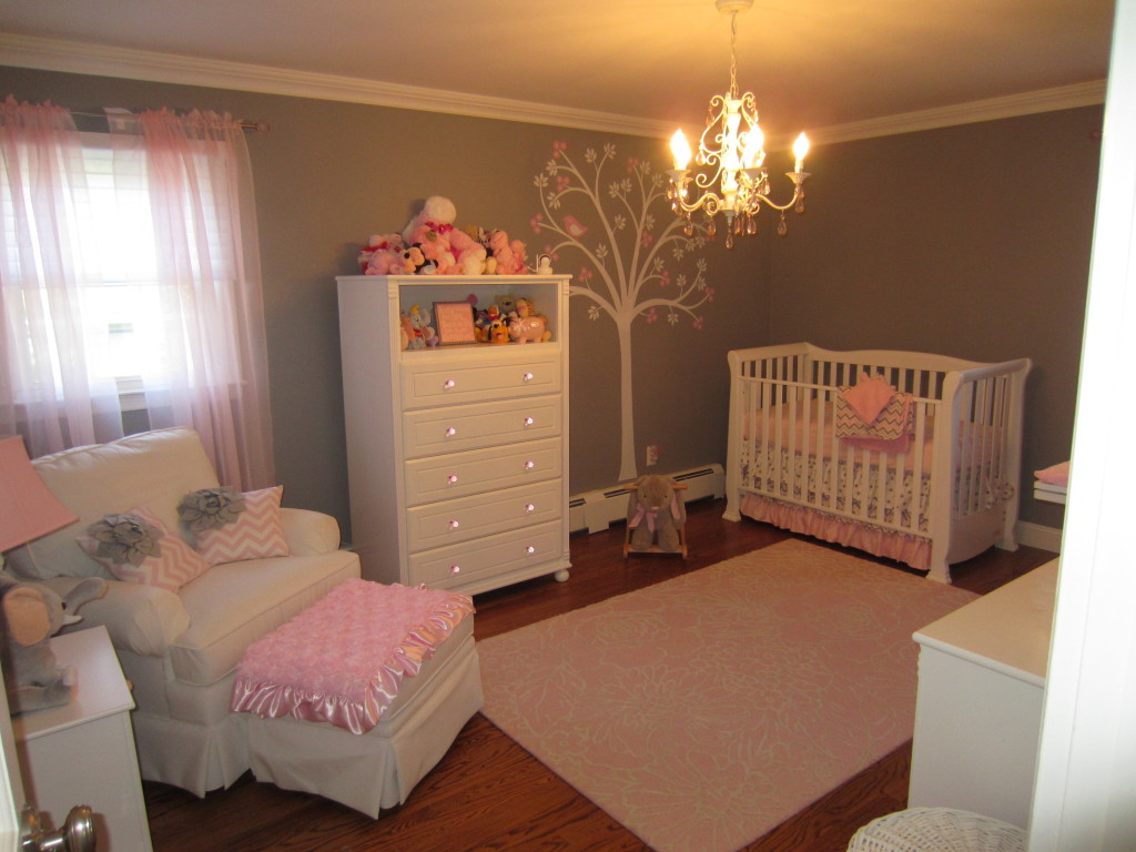 Pink and gray classic and girly nursery project nursery Baby designs for rooms