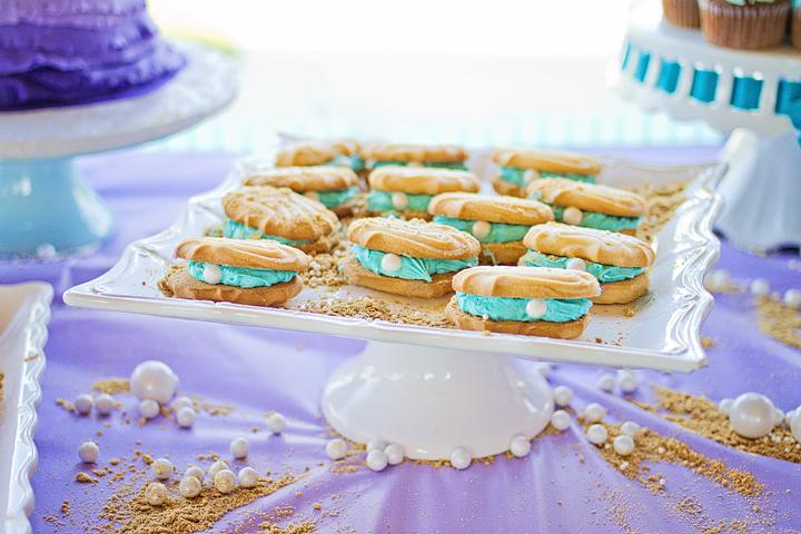 Little Mermaid 4th Birthday Party Cookies