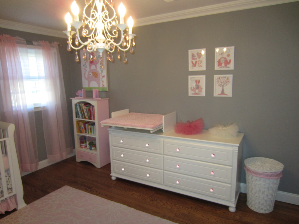 Pink and Gray Classic Nursery Changer