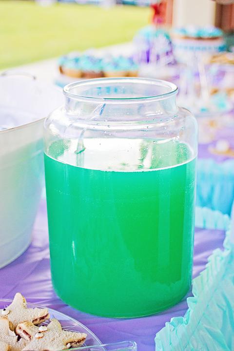 Little Mermaid 4th Birthday Party Green Juice