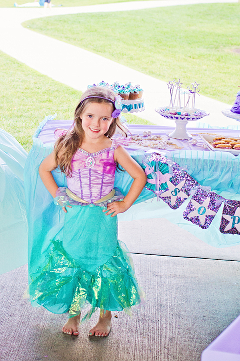 Little Mermaid 4th Birthday Party Birthday Girl