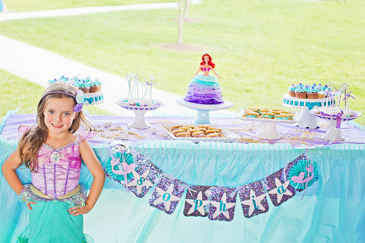 Little Mermaid 4th Birthday Party