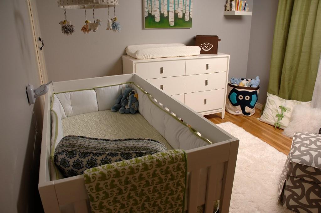 Baby Boy Gray Nursery Crib