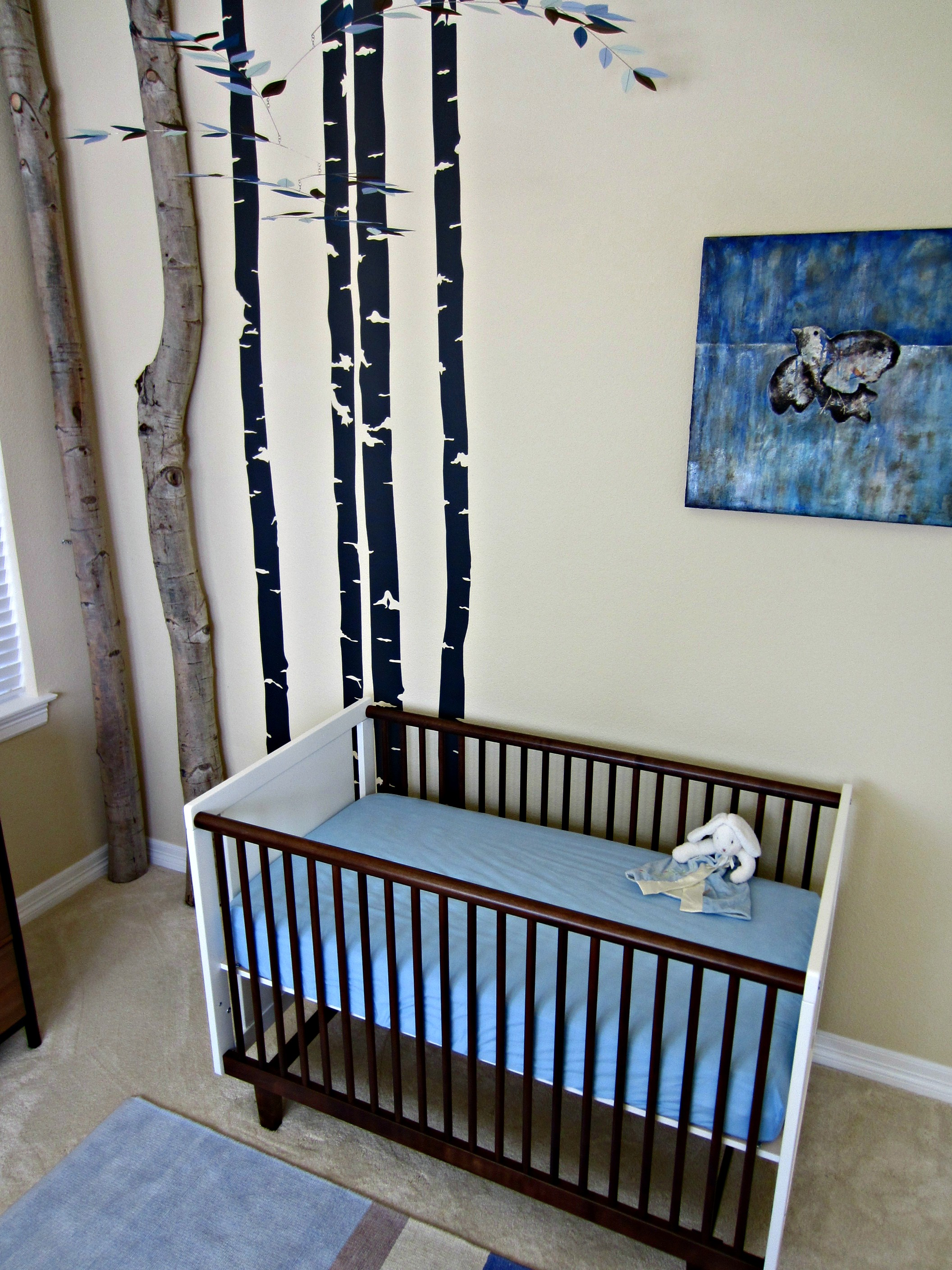 Immersion in Nature Nursery Crib View