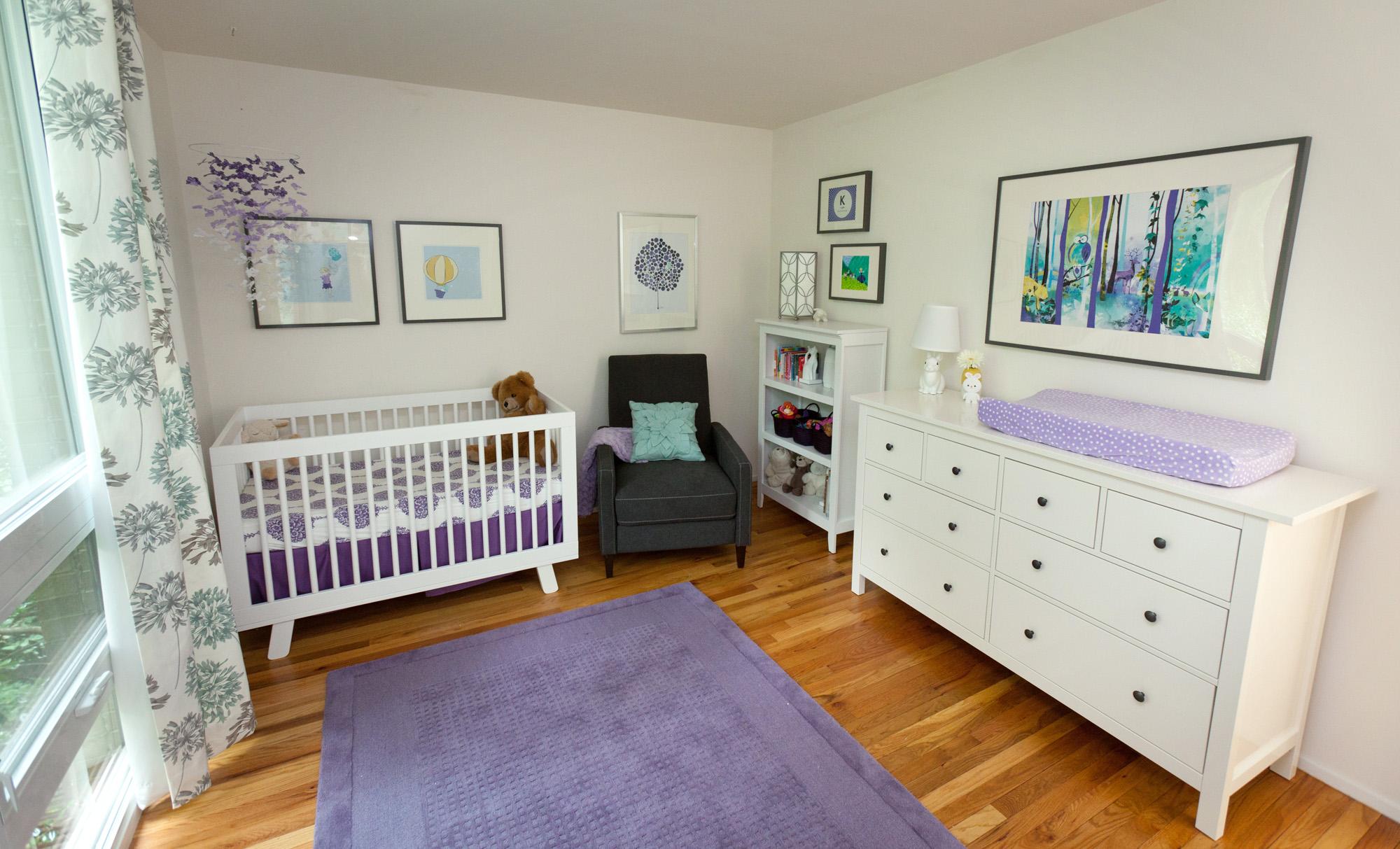 A Purple Aqua And White Nursery Project Nursery