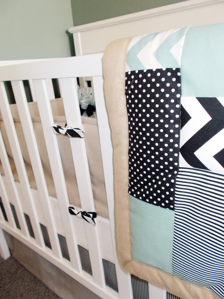 Boy Twins Shared Nursery Crib Quilt