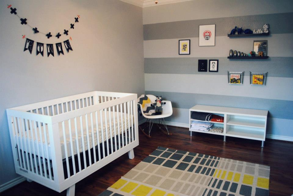 Star Wars Nursery Striped Wall