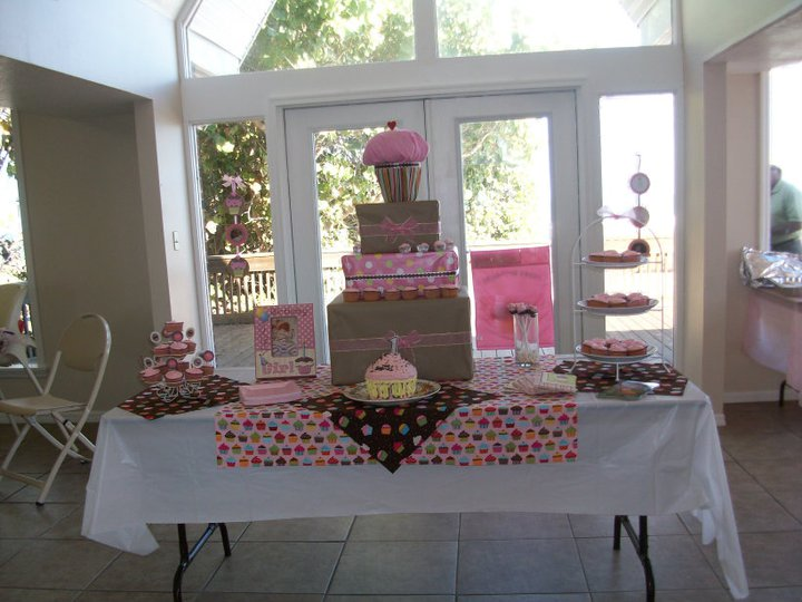 Cupcake Themed First Birthday Sweets Table