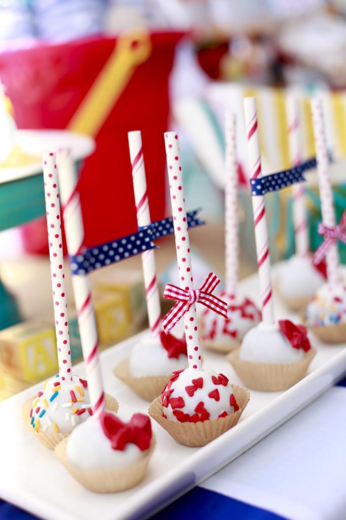 Vintage Beach Baby Shower Cake Pops