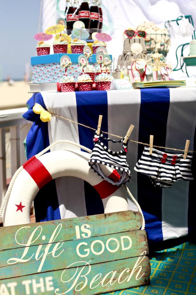 Vintage Beach Baby Shower Anchor