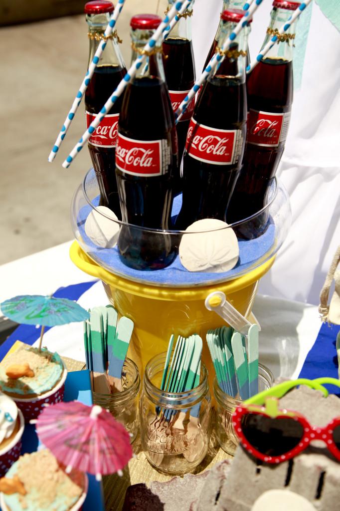Vintage Beach Baby Shower Coke Bottles