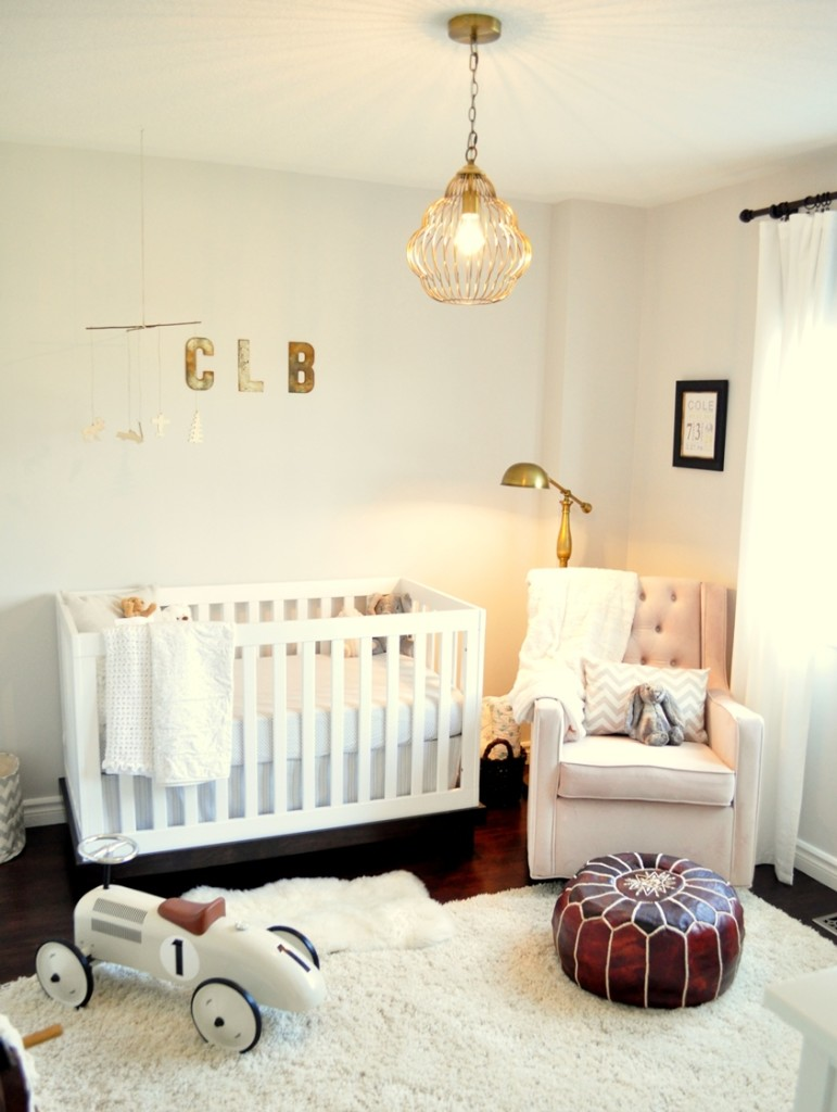 Rustic and Contemporary Nursery Room View