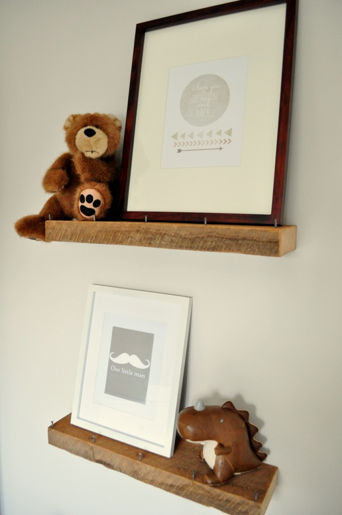 Rustic and Contemporary Nursery Book Ledges