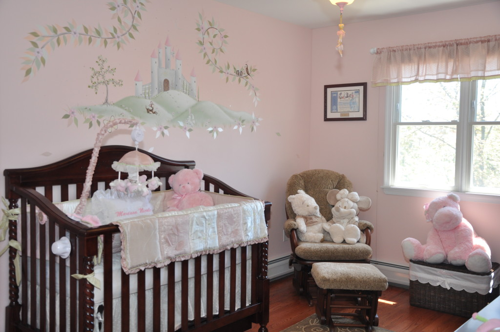 Light Pink Nursery Decor Custom Vinyl Decals - Light pink nursery decor