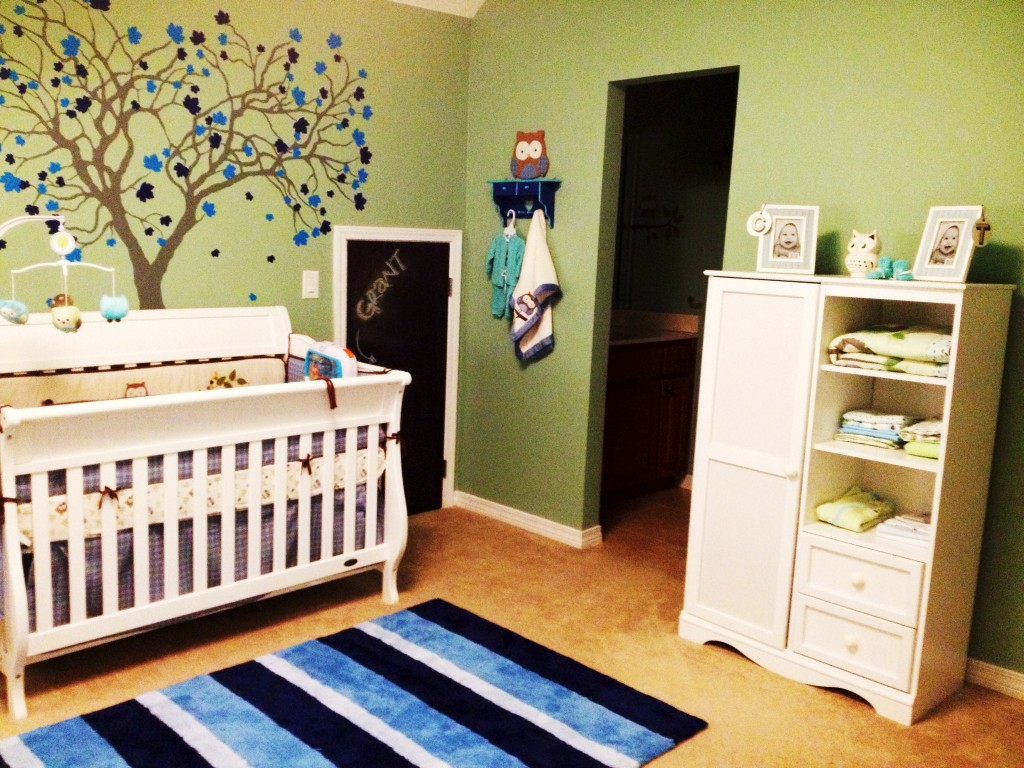 Boy Green and Blue Nursery Whole Room