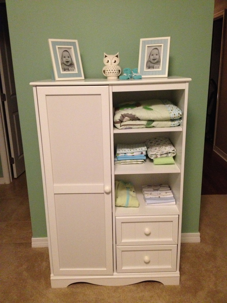 Boy Green and Blue Nursery Dresser