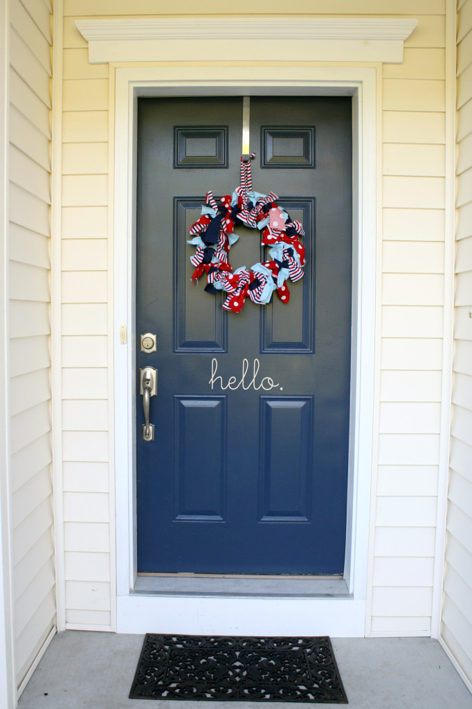 Red Wagon 1st Birthday Party Front Door