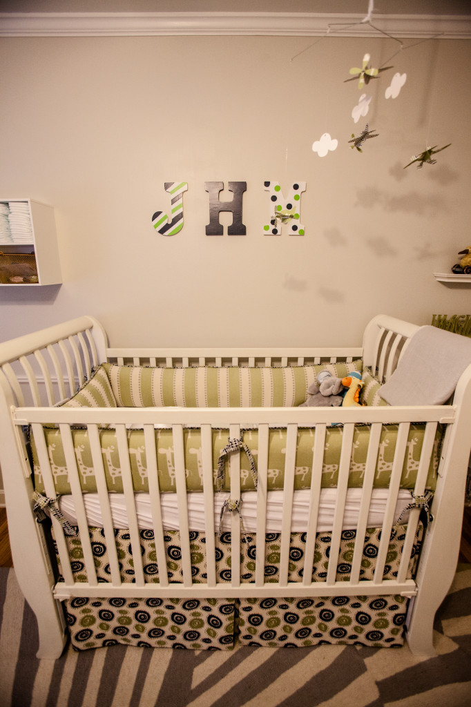 Boy Vintage Nursery Crib View